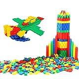 ITODA 450pcs Enfants Blocs de Construction en Plastique Jeux de Construction Balle Forme Coloré 3D DIY Jeu Educatifs Créatif Puzzle Jouet Sécurité Cadeau Noël pour Enfants Filles garçons 3-6ans