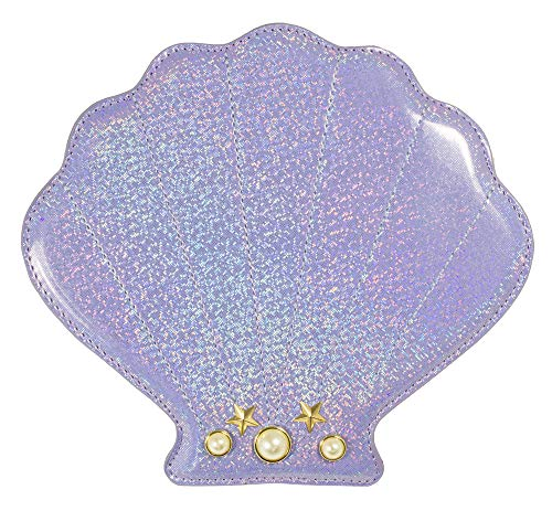 Das Kostümland Hochwertige Glitzer Handtasche - Muschel 21cm - Mädchen Damen Meerjungfrau Junggesellenabschied Karnevalskostüm Fasching Festival Fun Bag