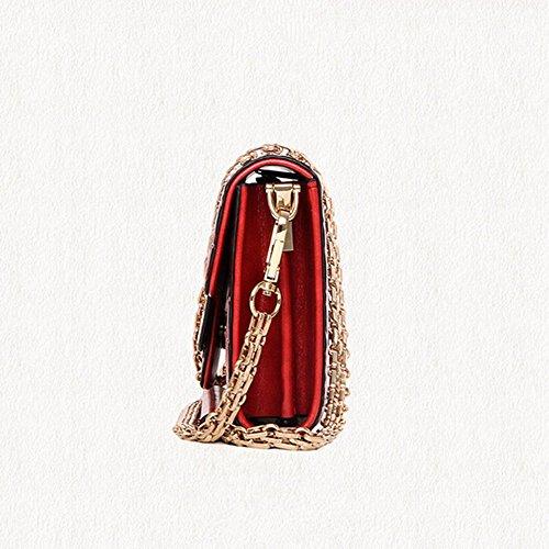 Eysee, Borsa a tracolla donna vinaccia rosso Light brown 25cm*12cm*3.5cm Vino rosso