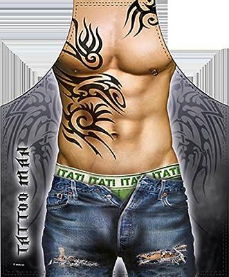 Schürze = Tattoo Mann = Schürze mit Motiv Kochschürze Küchenschürze Latzschürze Grillschürze