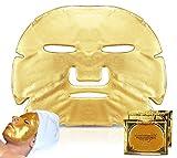 Confezione Da 3 - Dorato Collagene Maschera Facciale - Antietà, Rughe, Idratante, Imperfezioni, Rassodante, Tonificante, Occhiaie, Emolliente Pelle, Naturale Gonfia