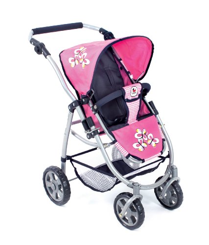 CHIC 2000 3-in-1 Bayer Combi Emotion Checker Doll's Pram (Pink) 51Fx9H3jn2L