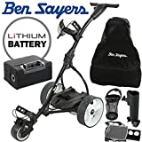 Ben Sayers ELECTRIC GOLF TROLLEY +LITHIUM BATTERY +£100 FREE ACCESSORIES/BLACK