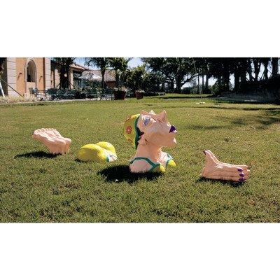 Design Toscano Coco durchschwimmt den Kanal, Skulptur