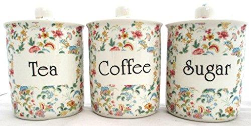 Petite Bombay thé/café/sucre en porcelaine Fine furnishing décoré à la main en forme de U. K.-gratuite