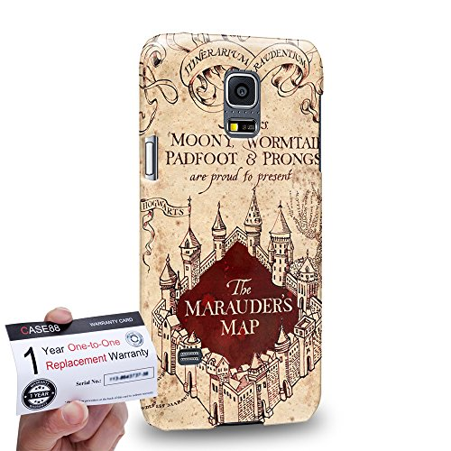 Case88 [Samsung Galaxy S5 Mini] 3D imprimée Coque protectrice & Carte de garantie - Harry Potter & Hogwarts Collections Marauder's Map