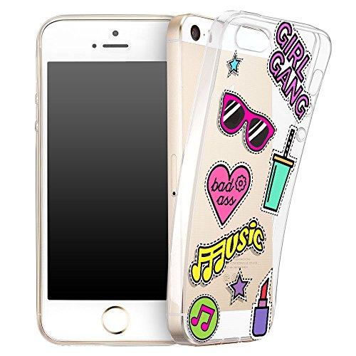 Ooh.Color® Fitty Patterns Design Case Cover Per iPhone Custodia Protettivo elastico Print Pattern Transparent Motiv duenne flexibele lusso custodia slim silicone TPU Disegno 8