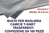 HOME & LAUNDRY Buste Maglia Camicie T-Shirt 35x50 cm Nylon PLT 100 Pezzi