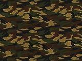 Camouflage Armee Druck Baumwolle Popeline Stoff Woodland–Meterware