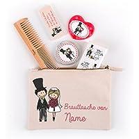 49363fdf9c2f52 Herz   Heim® Brauttasche zur Hochzeit befüllt mit 5 nützlichen Dingen - mit  Namensaufdruck