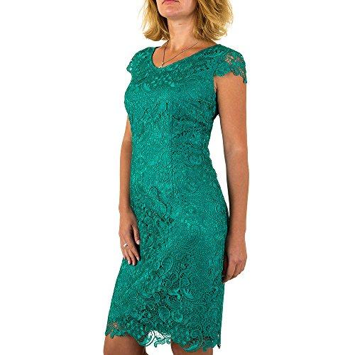 Vera Mont Chiffon Spitzen Kleid Für Damen bei Ital-Design Grün MKL-VM4646