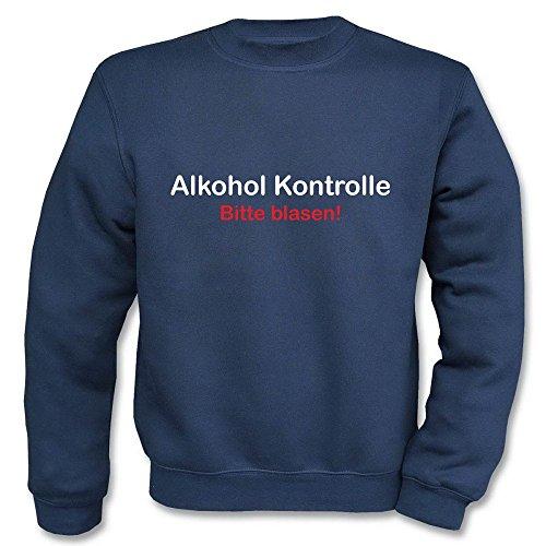 Pullover - Alkohol Kontrolle Navy