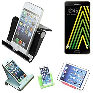 Pour Samsung Galaxy A5 (2016) Support Universel Dock de Bureau pour Samsung Galaxy A5 (2016) noir solide léger et compact | Multi-angle smartphones Fold-Up Station Cradle titulaire - K-S-Trade(TM)