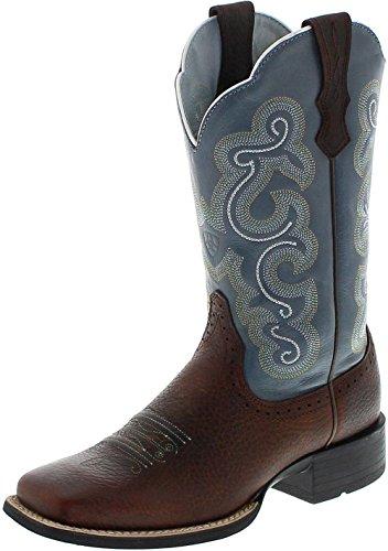 Ariat Quickdraw 4720 Brown Sapphire/Damen Westernreitstiefel Braun/Reitstiefel/Western Riding Boots, Groesse:41 (7 UK) (Braun Rindsleder Western-boot)