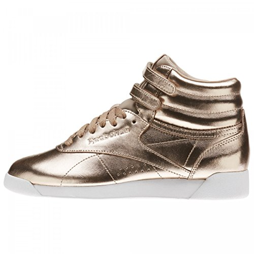 Reebok Damen Freestyle Hi Metallic Gymnastikschuhe, Gold (Rose Goldwhitesilver Peony), 39 EU (Reebok Freestyle Hi)