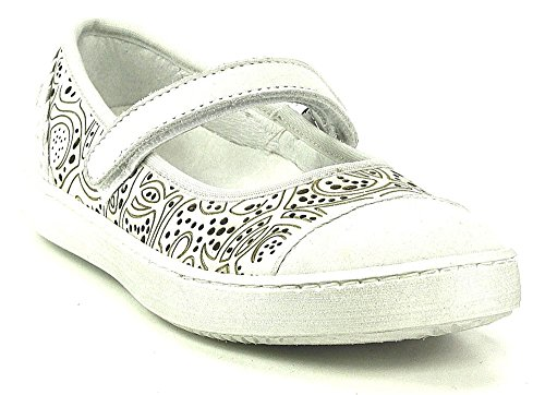 Vado viola ballerine blanc modèle bianco sangles velcro Blanc - Blanc