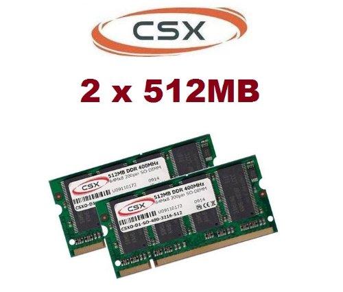 CSX 1GB 2 x 512MB 400MHZ Notebook PC-400 Speicher Ram PC-3200 PC 400 für Notebooks DDR1 DDR - SD-RAM (400mhz Pc3200 Ddr-sdram)