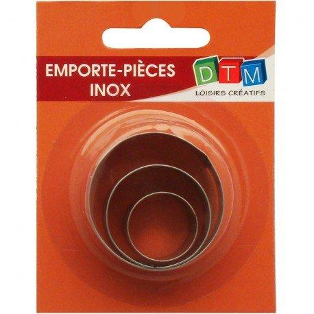 3Stück Minis Ausstechformen Kreise lebensmittelechter Edelstahl Kleine Rund Durchmesser 2,3,4cm
