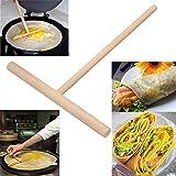 T Forme à crêpes Dissipateur de pâte à crêpes en bois (lot de 2)