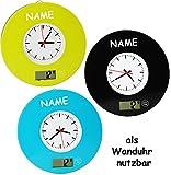 1 Stück _ Digitalwaage - Küchenwaage & Küchenuhr -  bunt / Retro Design  - incl. Name - 5 kg - Uhr analog - LCD Anzeige Digital - elektronische Waage - Küch..