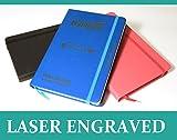 Libreta de apuntes personalizada, diario de calidad suprema, el regalo perfecto, A6/A5, laser grabado