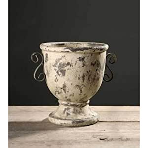 pot vase deco en ceramique decoration style grec ancien pour jardin ou maison. Black Bedroom Furniture Sets. Home Design Ideas