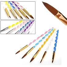 teenxful 500 unidades Pinceles acrílicos de calidad profesional para el pintado de uñas estilo francés