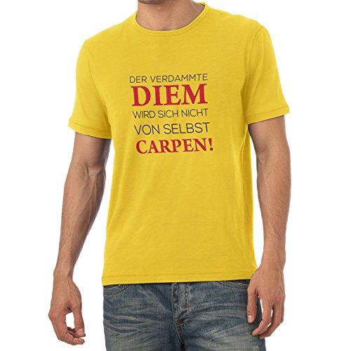 TEXLAB - Verdammter Diem - Herren T-Shirt Gelb