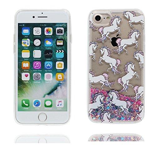 iPhone 7 Coque, Case Cover étui pour iPhone 7 4.7 pouces, Bling Glitter Fluide Liquide Sparkles Sables Mouvants Étoile Paillettes Flowing Brillante, iPhone 7 Case anti-chocs - Colorful ( Bling Bling) # 6