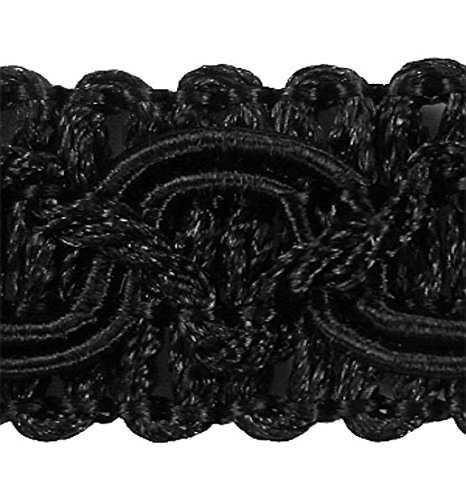 5,0 m Dekoborte Breite 16 mm Farbe Schwarz (1,1 €/m) 5m,10m,15m uzw Brokatborten Möbelborte Fransen Brokat Spitze Barock