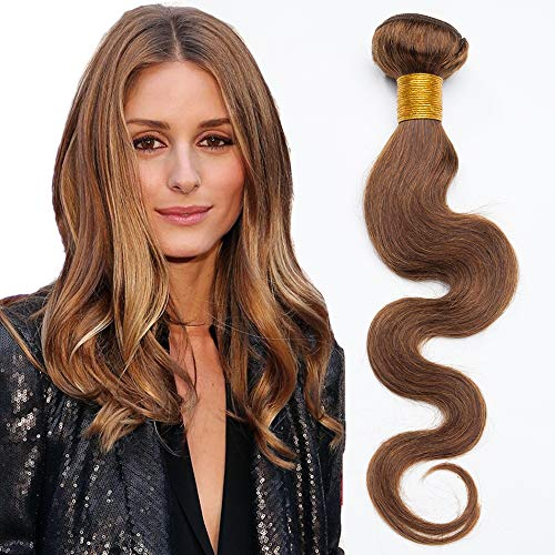Extension tessitura capelli veri matassa virgin human hair ricci mossi 100g/1 ciocca hair extensions umani brasiliani 45cm #4 marrone cioccolato