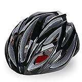 6X Farben -Adult Lightweight Radfahren Fahrradhelm, Geformt Integral Erwachsene Männer und Frauen Sport Fahrradhelm für Road & Mountain Biking (Schwarz)