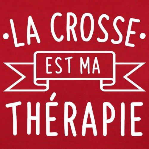 La crosse est ma thérapie - Femme T-Shirt - 14 couleur Rouge
