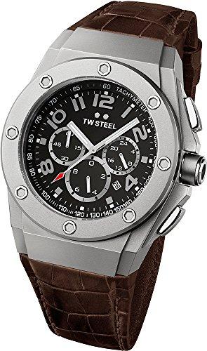 TW Steel CE4013 Montre bracelet Mixte, Cuir, couleur: marron