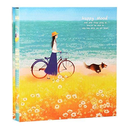 FOOHAO- Insérez album photo, couverture de carton, noyau de particules blanc, pour accueillir 1198 photos, 5-6-7-8-10 pouces mixtes, Home Business Albums