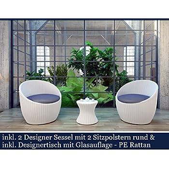 Amazon.de: Polyrattan Gartenmöbel Set Poly Rattan Garten Möbel ...