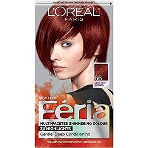 L'Oreal Paris - Couleur vibrante multi-facettes Féria - Couleurs pures avec 3 fois plus de reflets - Ruby Fusion (Auburn très riche)