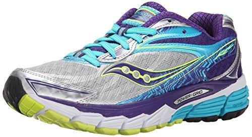 Saucony Ride 8, Zapatillas de Running para Mujer, Multicolor (Silver/P