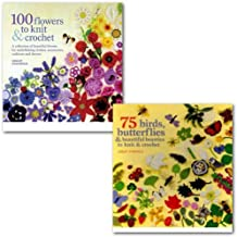 Lesley Stanfield Knit and Crochet Collection 2 Books Set, (100 Flowers to Knit and Crochet & 75 Birds and Butterflies to Knit & Crochet)