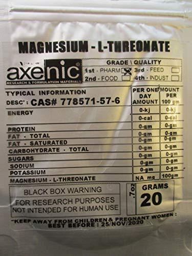 100 grams MAGNESIUM L THREONATE powder 98.5%