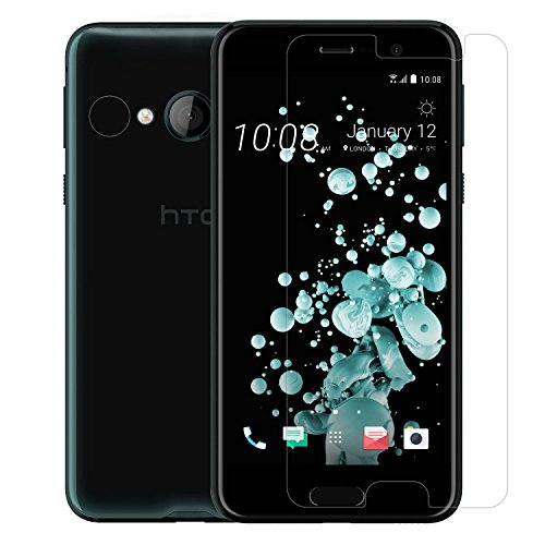 Mobonic 2.5D 0.3mm Curved 9H Flexible Gorilla Guard Tempered Glass Screen Protector Shield For HTC U Play [Curved Ultra HD Clear Proper Camera and Sensor Cut]
