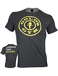 Golds Gym STRONGER THAN EXCUSES Tee 60% Baumwolle 40% Polyester