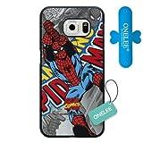 Samsung Galaxy S6Edge Coque, Onelee personnalisé Marvel Comics Spider Man Noir Coque Rigide en Plastique Compatible Uniquement pour Samsung Galaxy S6Edge [Gratuit One Touch Support Silicone] 10