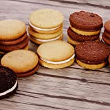 Gefüllte glutenfreie Kekse 5 verschiedene Sorten | glutenfrei, vegan, laktosefrei, eifrei | Großpackung Creme Kekse | Superfood Pausensnack für Allergiker | Kakao - Vanille - Zitrone - Kokos - Mix