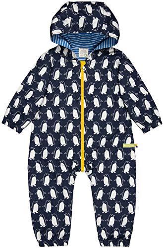 loud + proud Unisex Baby Wasserabweisender Overall Aus Bio Baumwolle, GOTS Zertifiziert Schneeanzug, Blau (Midnight Mi), 80 (Herstellergröße: 74/80)