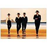 Artopweb Pannelli Decorativi Vettriano The Billy Boys Quadro, Legno, Multicolore, 90x1.8x60 cm