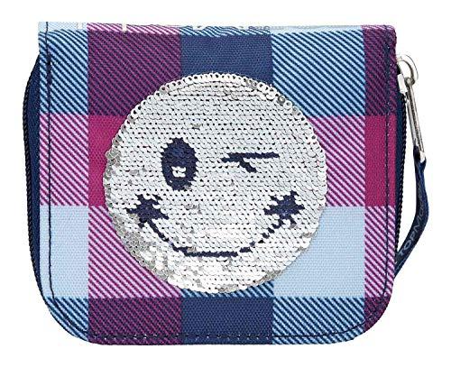Depesche 10209 - Portemonnaie Topmodel Smiley mit Pailletten, blau