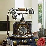 Retro Vintage Harz Festnetztelefone, Antike Mode Drehen schnurgebundene Telefone, Home/Office Dekoration Schmuck schnurgebundene Telefone