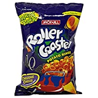 ‏‪Jack N Jill Roller Coaster Potato Rings Cheese - 225 gm‬‏
