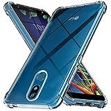 Ferilinso Hülle Kompatibel mit LG K40, Ultra [Slim Thin] Kratzfestes TPU Gummi Weiche Haut Silikon Fall Schutzhülle für LG K40 (Transparent)
